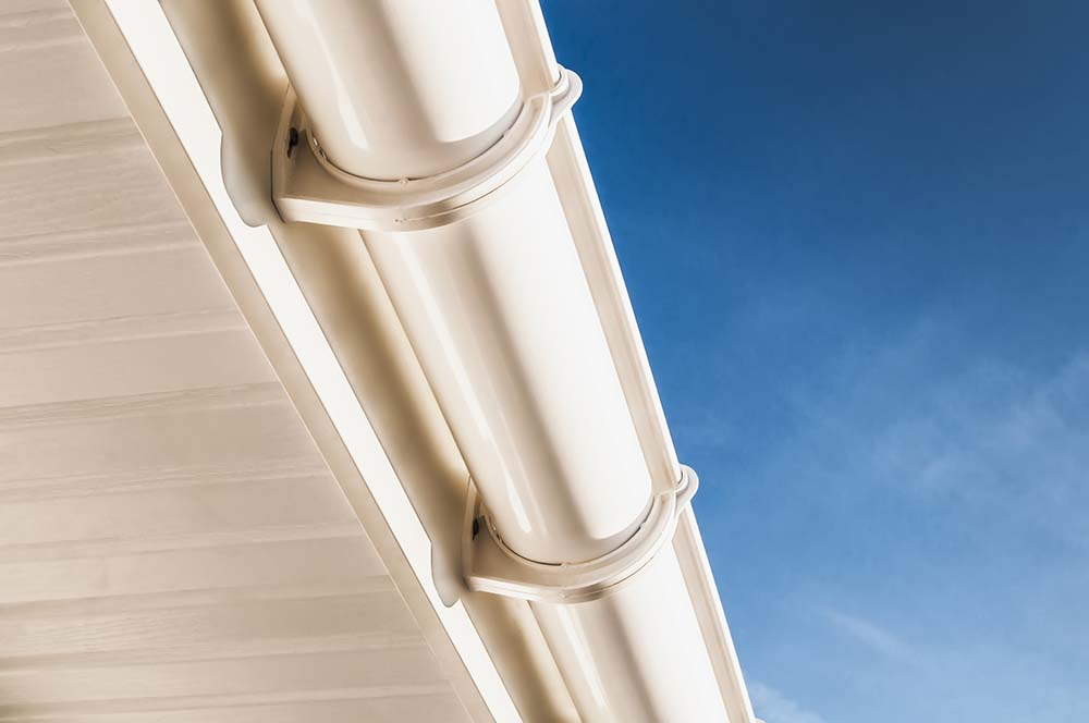 White pvc guttering and soffits